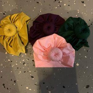 Set of 4 Baby Turbans